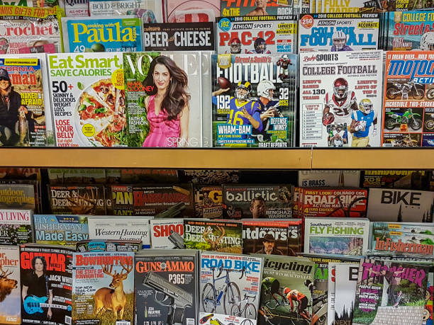 Magazines Collection of magazines news stand stock pictures, royalty-free photos & images