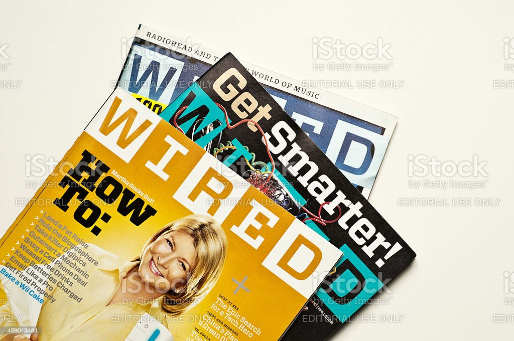 WIRED magazines royalty-free stock photo