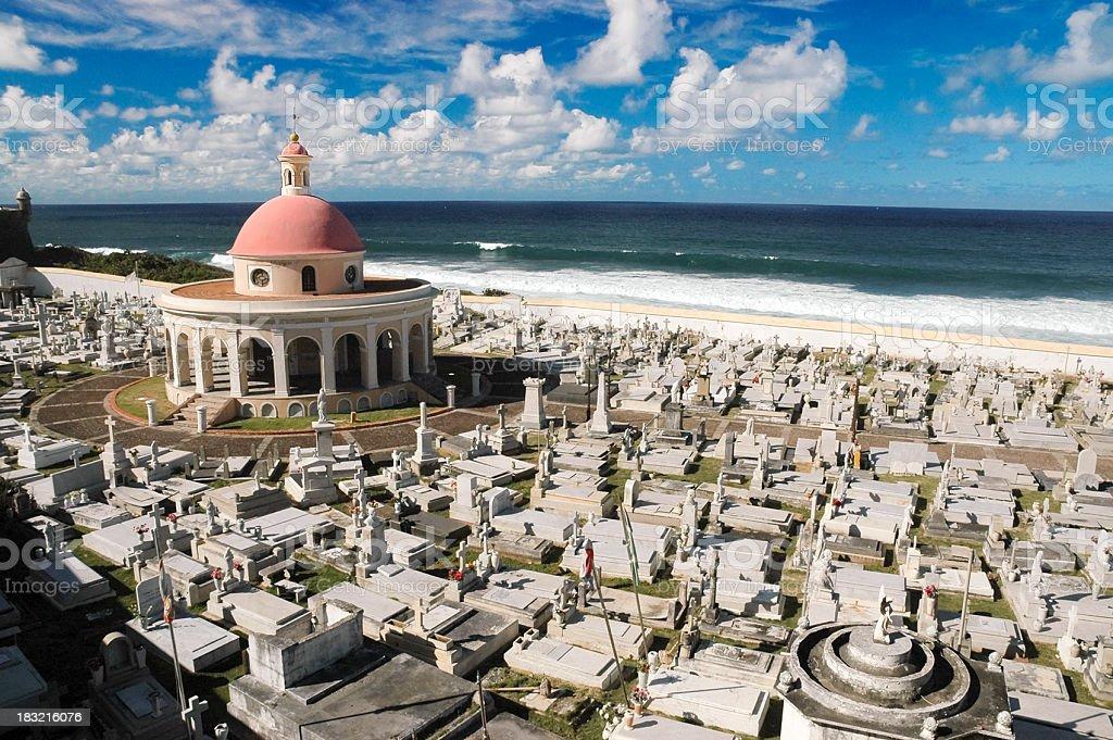 Magdalena Cemetery in San Juan, PR stock photo