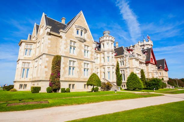 Magdalena Palace in Santander stock photo
