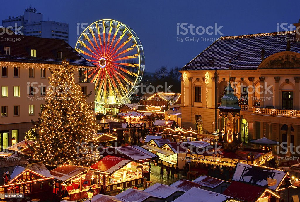 Magdeburg christmas market royalty-free stock photo
