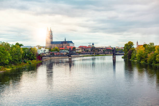 Magdeburg in Germany stock photo