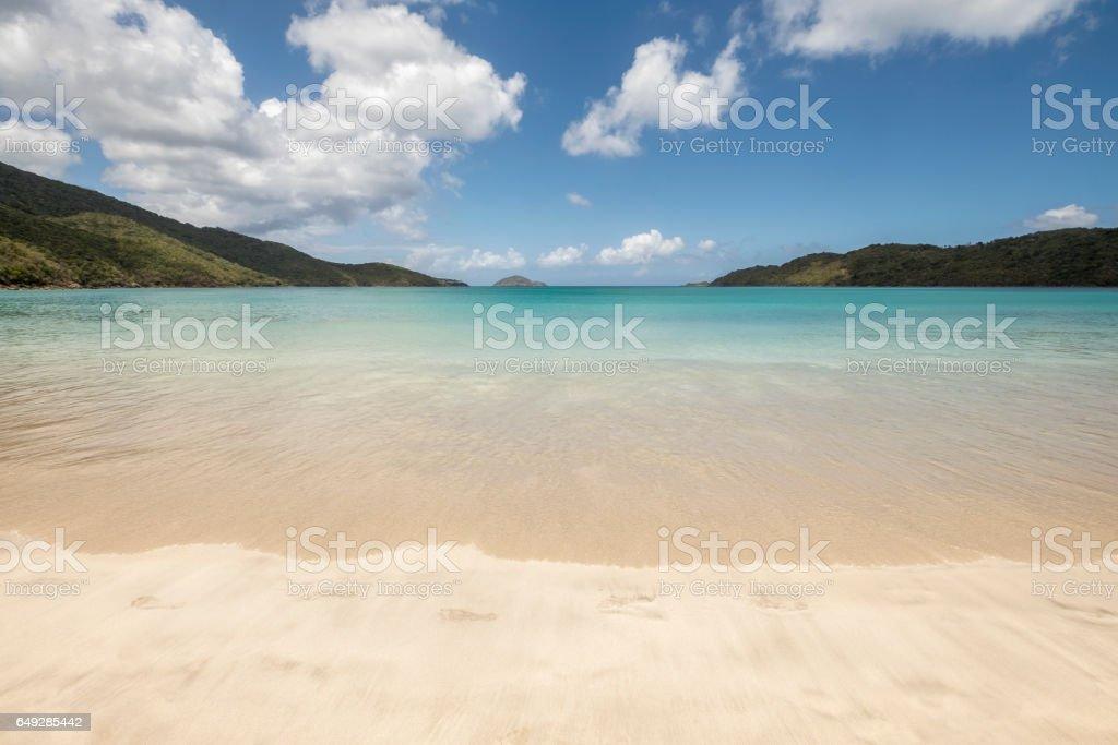 Magens bay beach in Saint Thomas stock photo