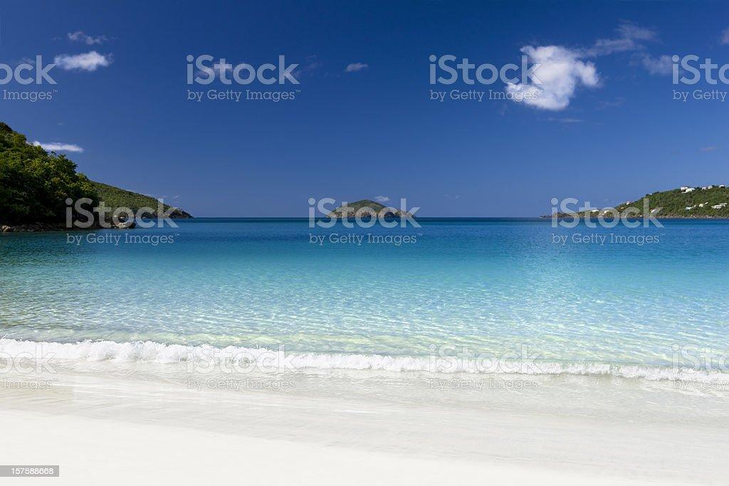 Magens Bay beach in Stt Thomas, US Virgin Islands stock photo