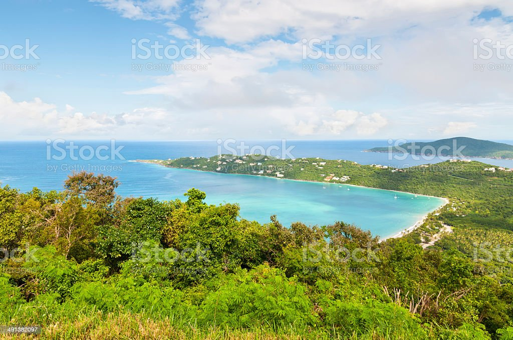 Magens Bay Beach on St Thomas USVI stock photo