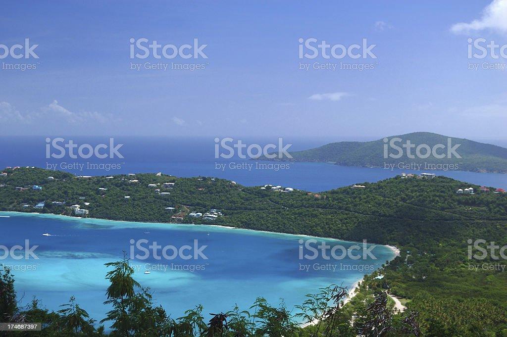 Magens Bay in St. Thomas royalty-free stock photo