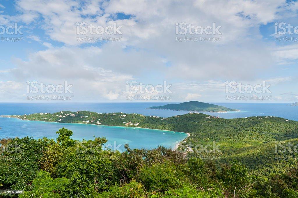Magens Bay in St. Thomas stock photo