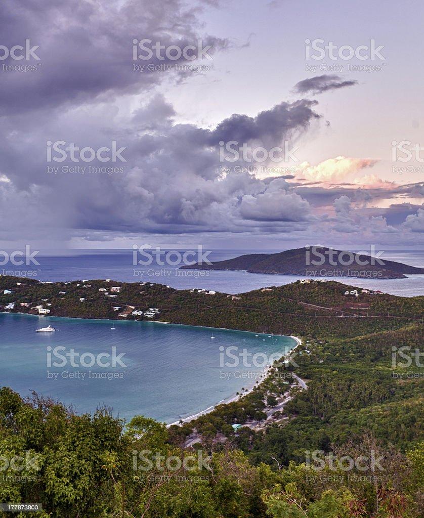 Magens Bay on St Thomas USVI stock photo