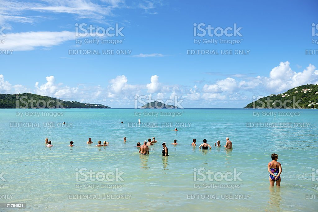 Magens Bay on St. Thomas, USVI stock photo