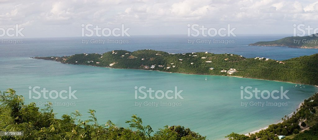 Magen's Bay St Thomas Panoramic royalty-free stock photo