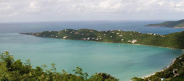 Magen's Bay St Thomas Panoramic stock photo