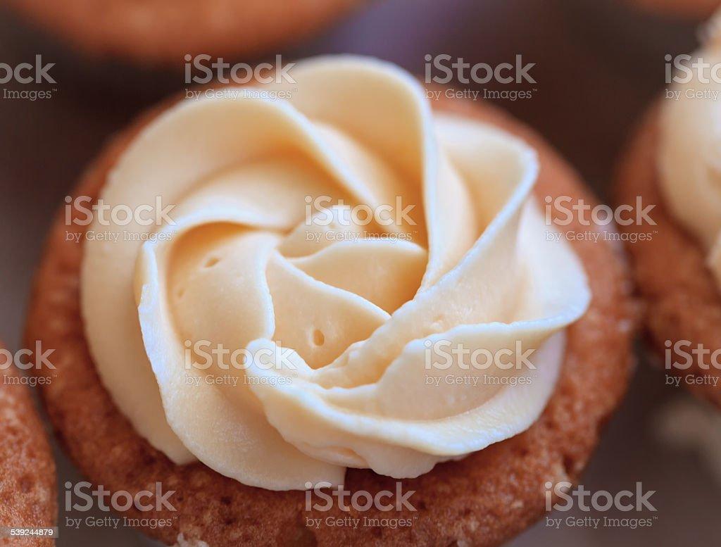 magenta Cup-cake close-up foto royalty-free