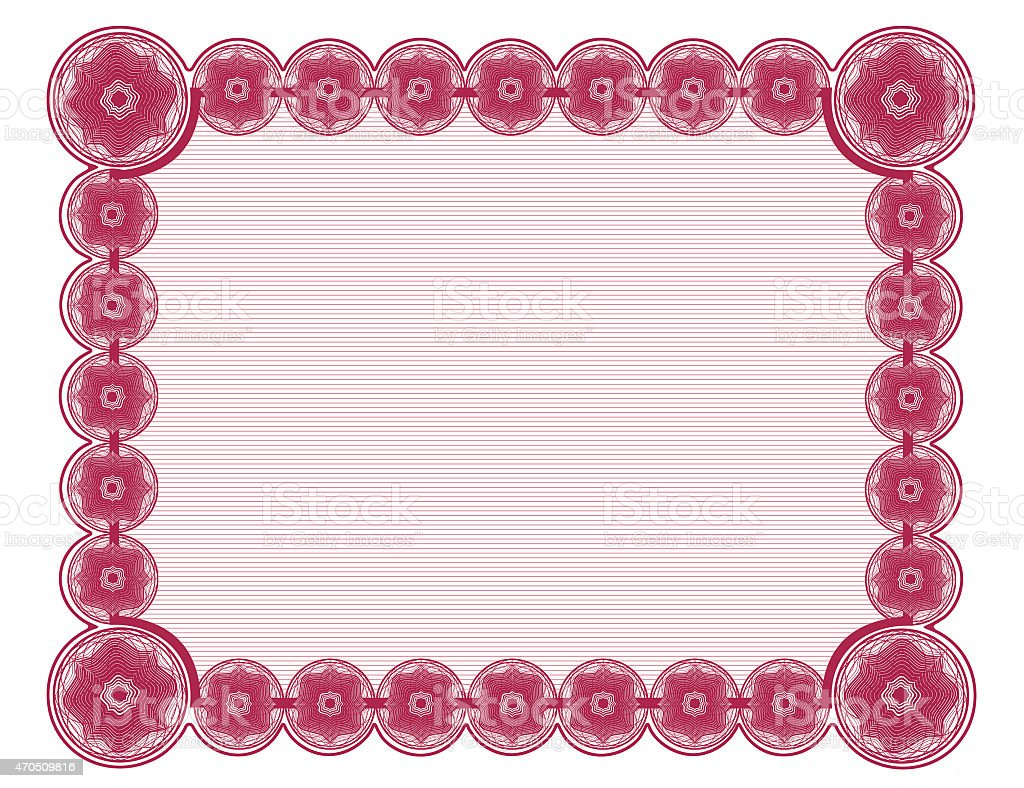 Magenta Document Frame White Background Suitable For 85x11 Printing ...