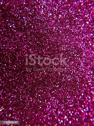 istock Magenta glitter texture and sparkle abstract background 1139958161