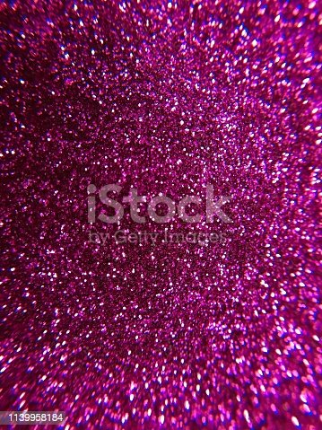 istock Magenta glitter texture and sparkle abstract background 1139958184