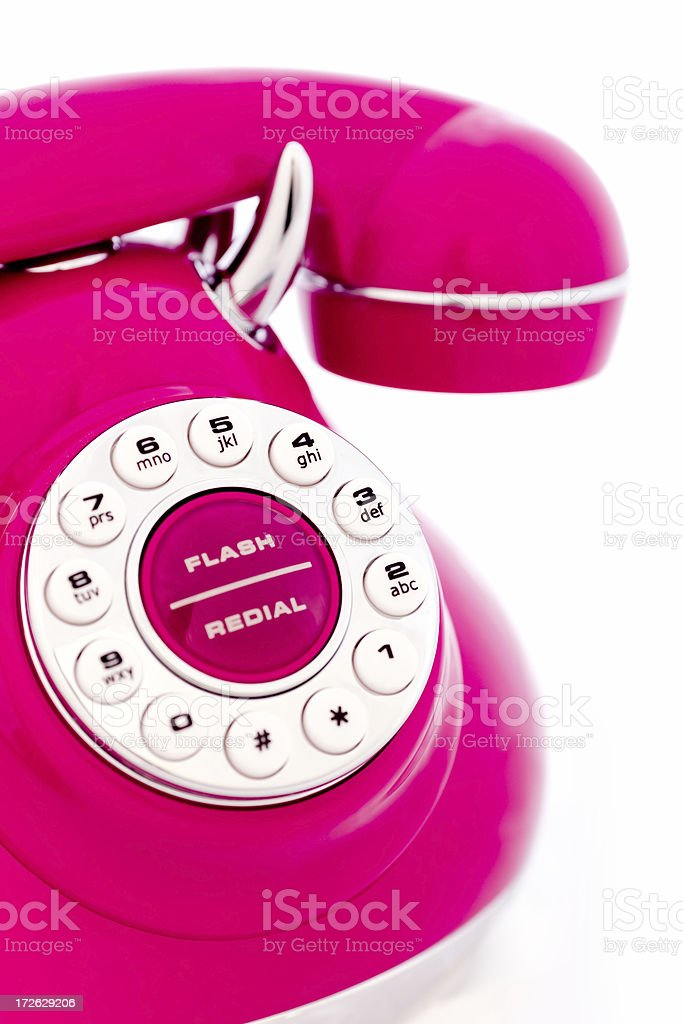 Magenta Vintage Phone royalty-free stock photo