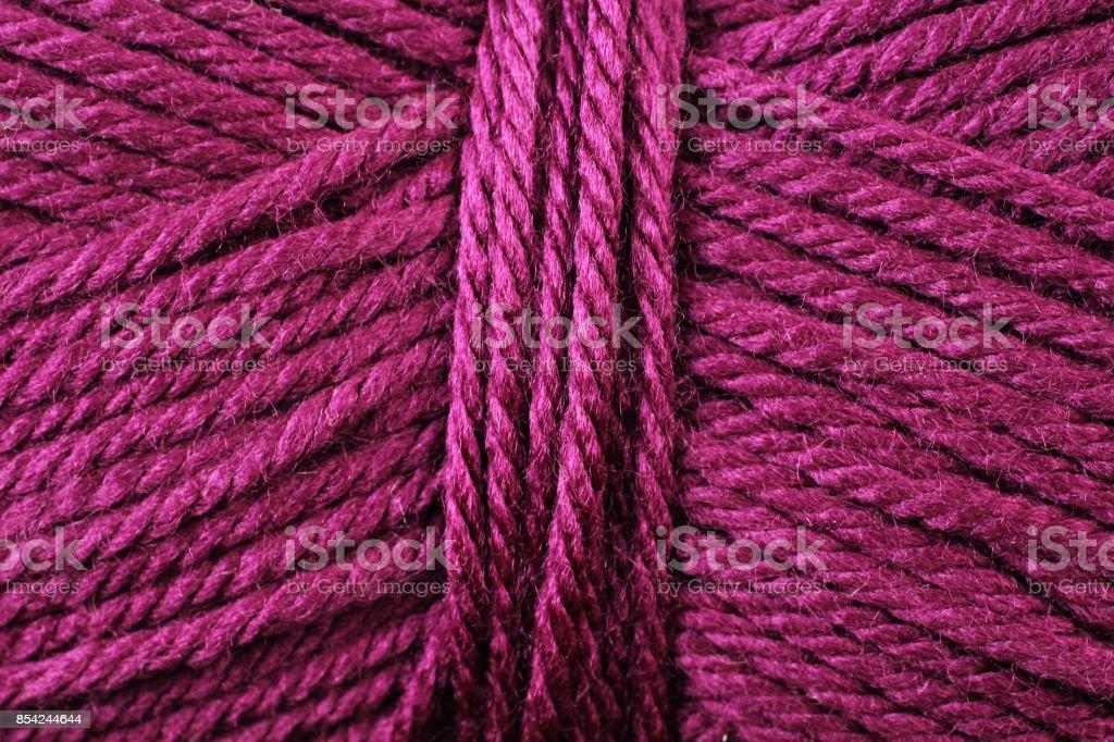 Magenta Yarn Texture Close Up stock photo