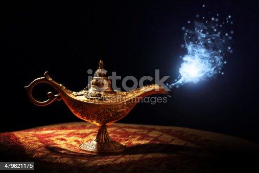 istock Magic Aladdins Genie lamp 479621175