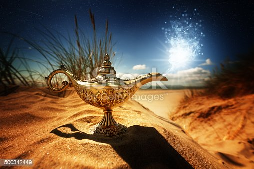 istock Magic Aladdins Genie lamp 500342449