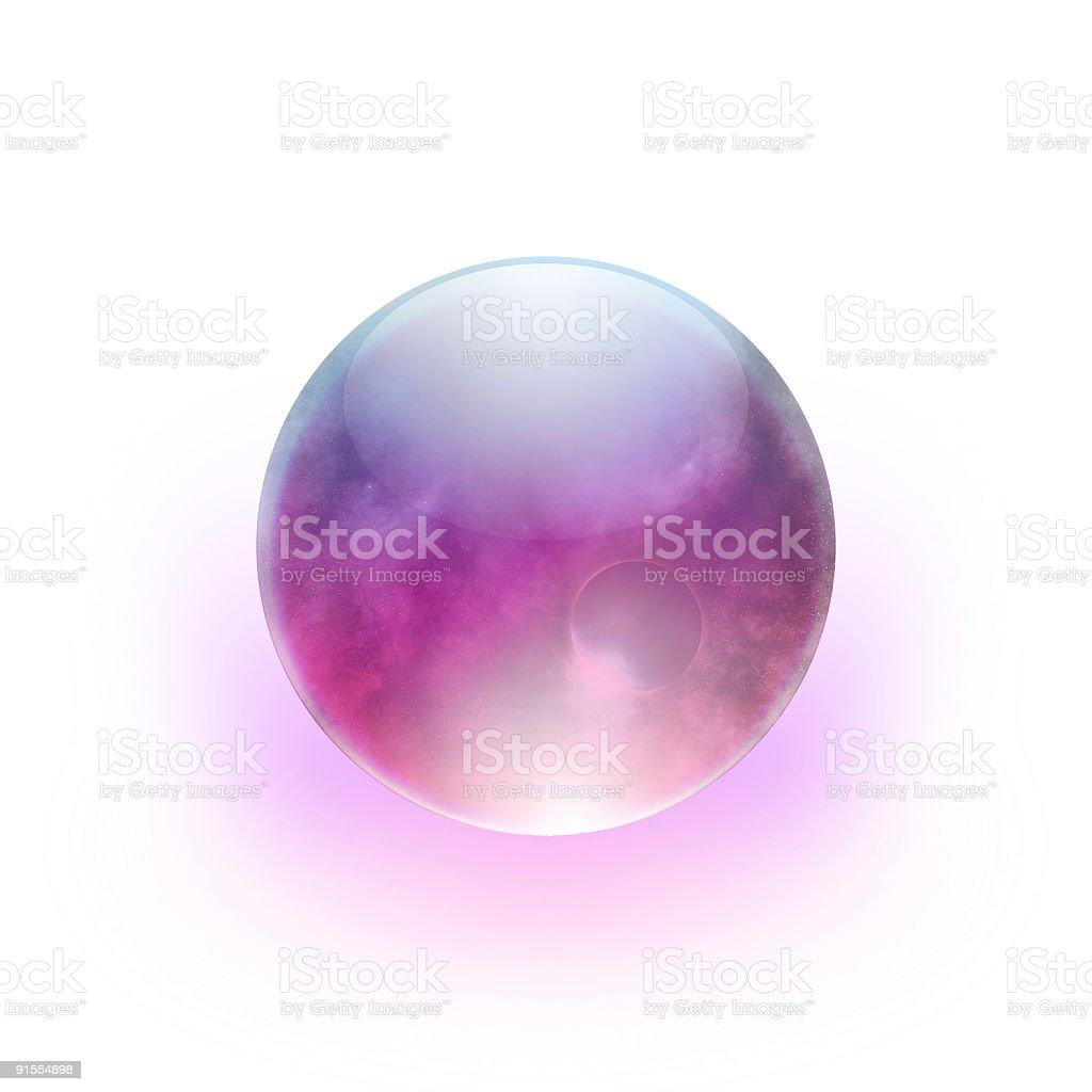 Magic Ball (Sphere on white background) royalty-free stock photo