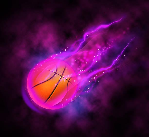 Magic basketball stock photo