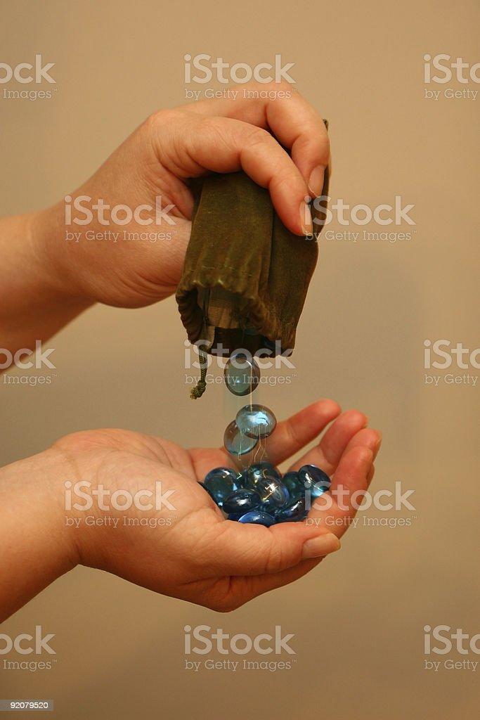Magic Bead Fall (Freeze Frame) royalty-free stock photo