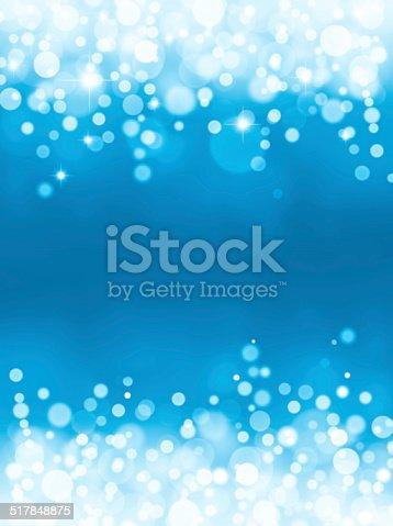 621592540istockphoto Magic blue bubbles and glitters 517848875