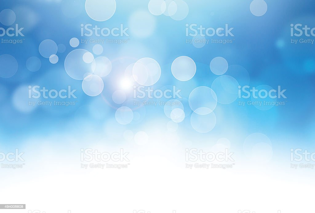Magic blue bubbles stock photo