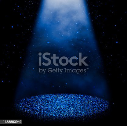 645451374 istock photo Magic blue sparkling stage 1188880949