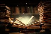 istock Magic book open 1203194312