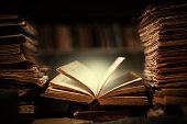 istock Magic book open 1210557301