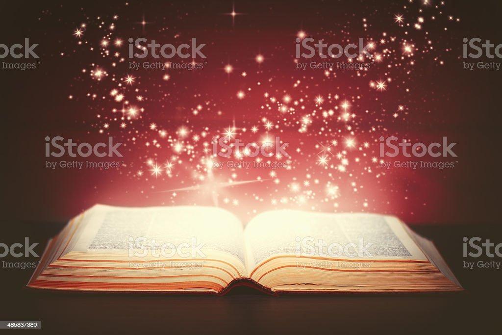 magic book open stock photo