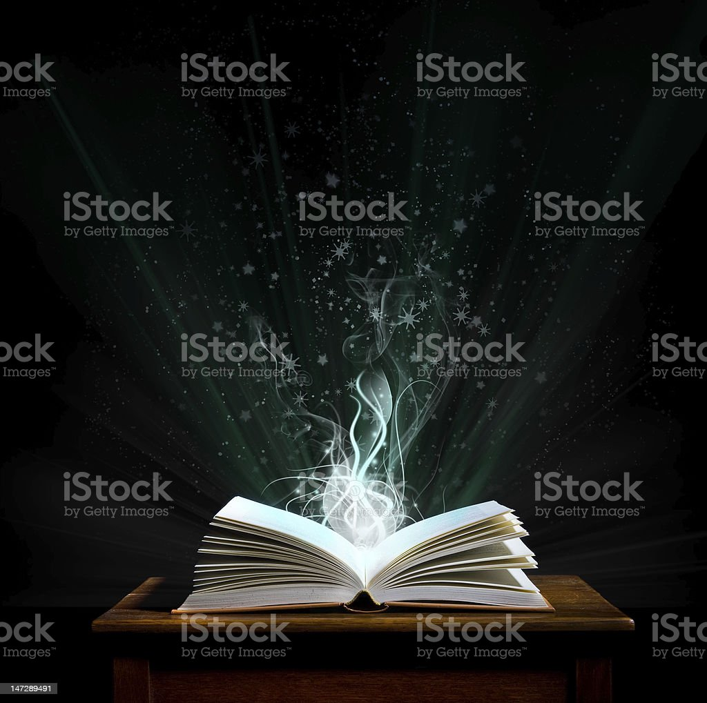 Magic book             (© Lobke Peers) royalty-free stock photo