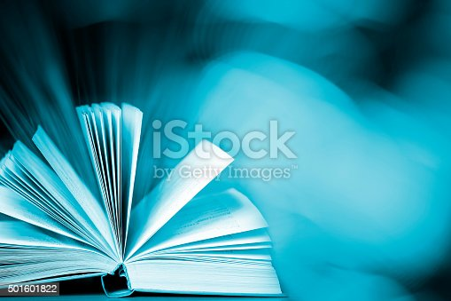 istock Magic book (with copyspace) 501601822