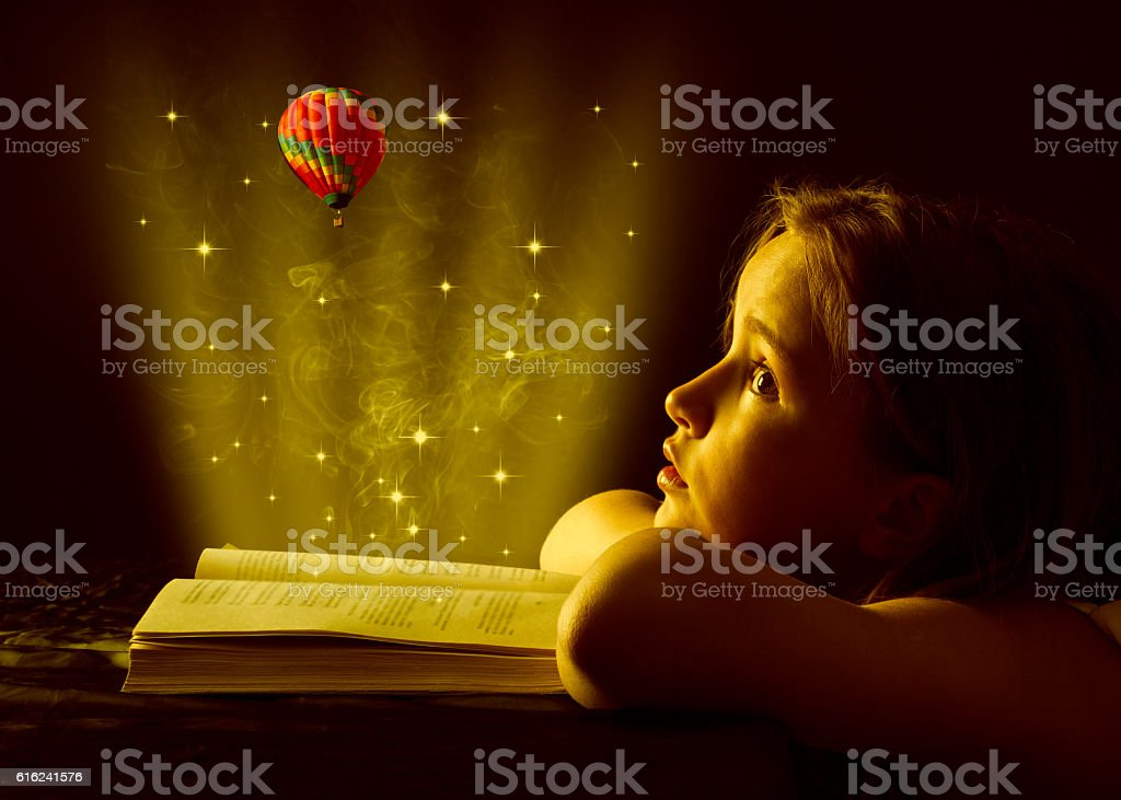 Magic book. stock photo