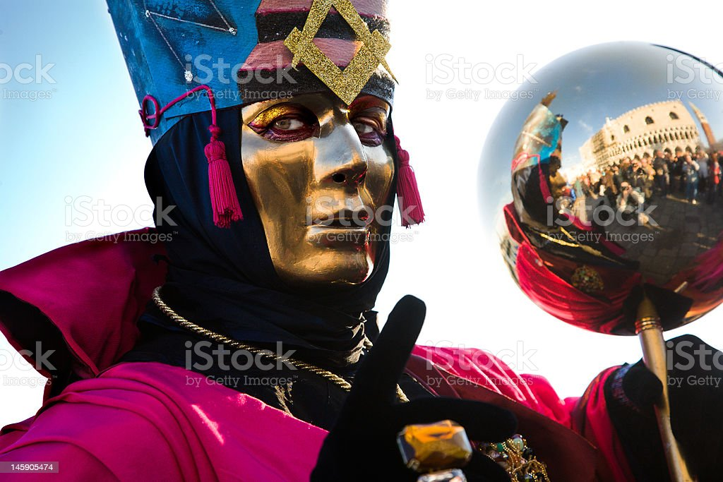Magic carnival of Venice royalty-free stock photo