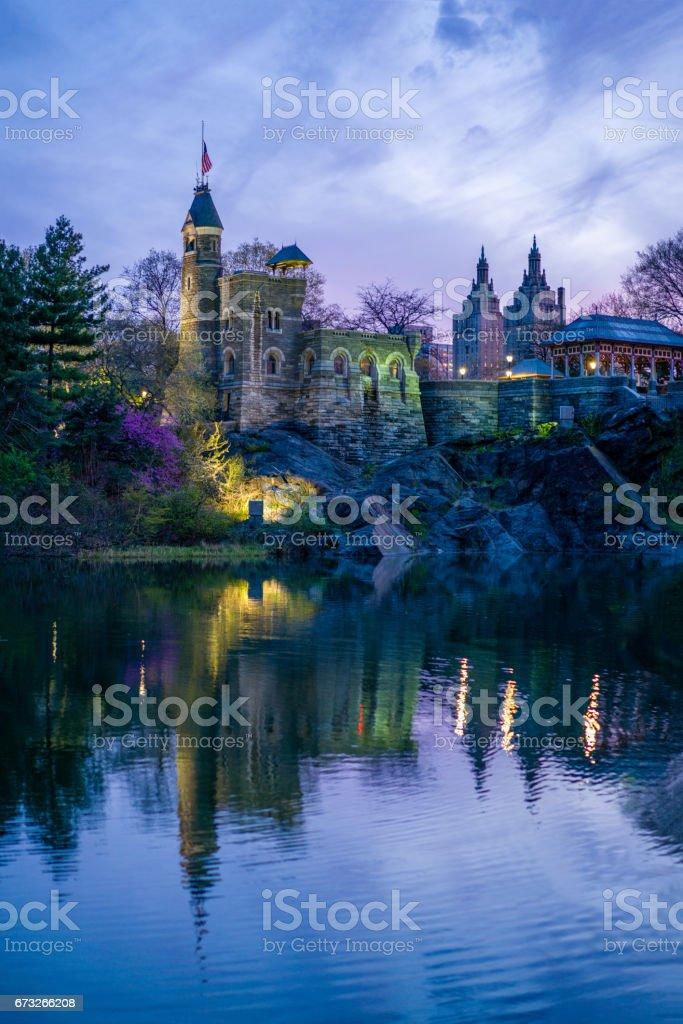 Magic Castle at sunset stock photo