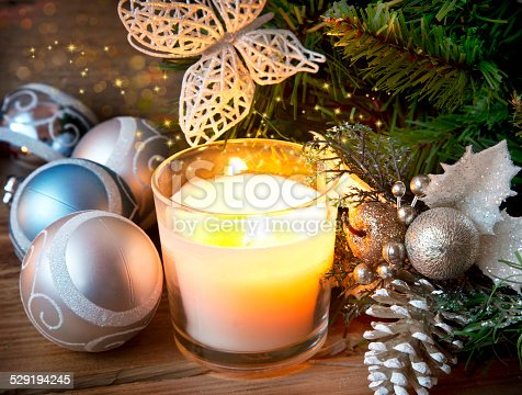 865140324 istock photo Magic Christmas Candle Light 529194245