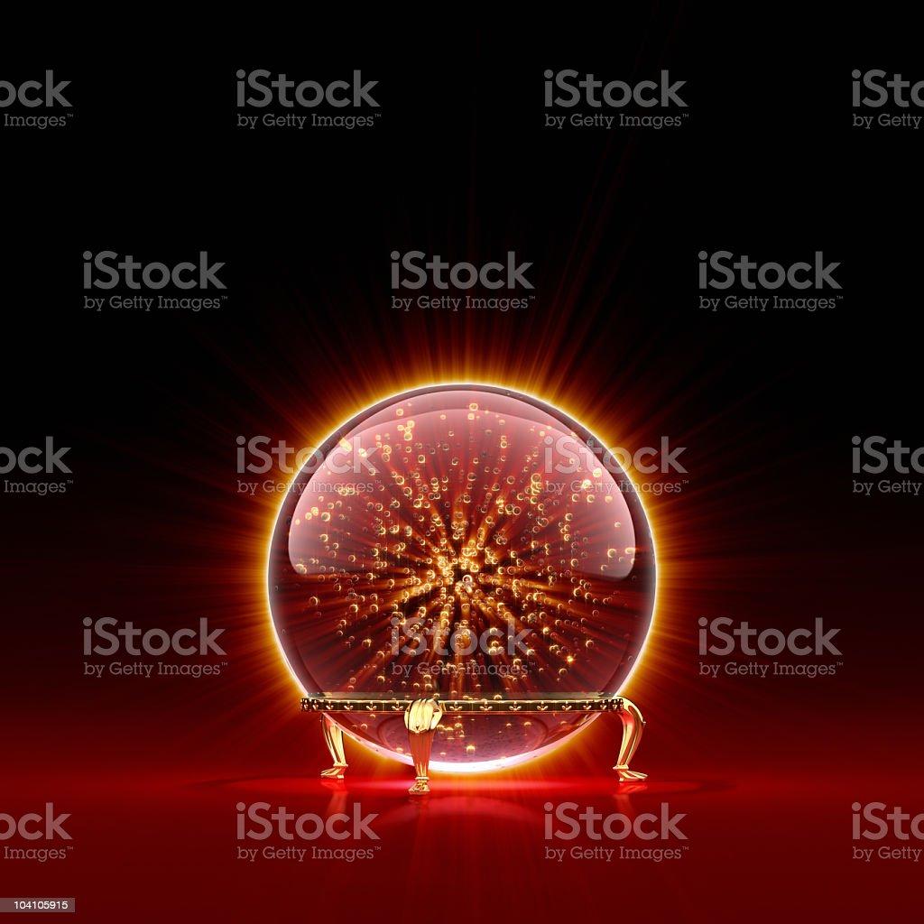 Magic Crystal Ball stock photo