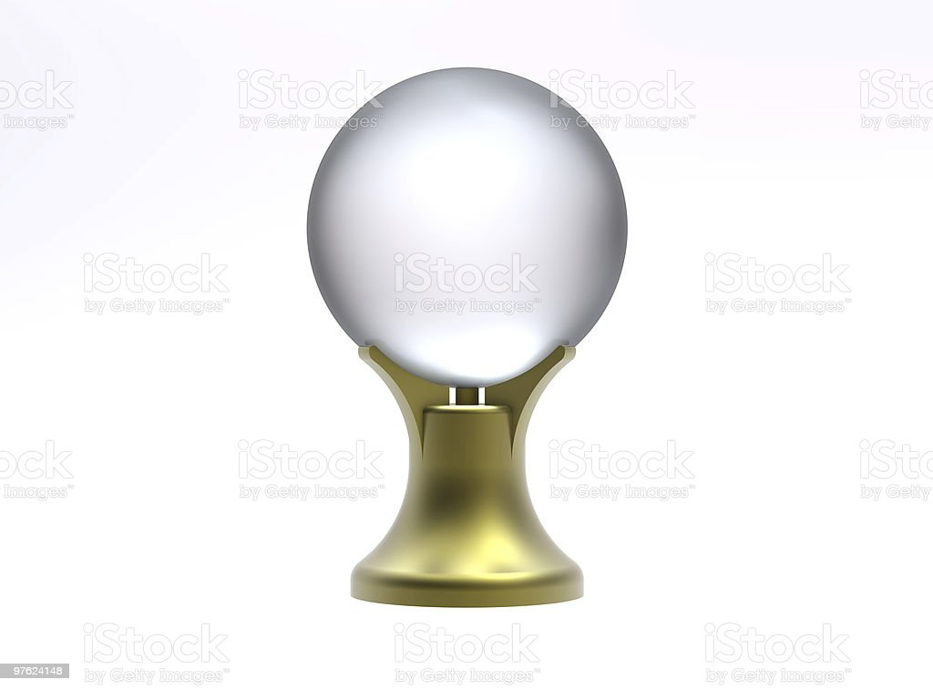 Magic crystal ball royaltyfri bildbanksbilder