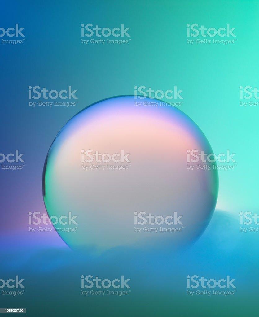 Magic bola de cristal con niebla y colores - foto de stock