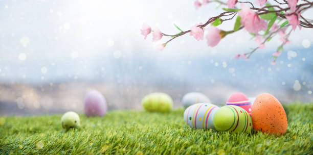 Magic Easter Landscape stock photo