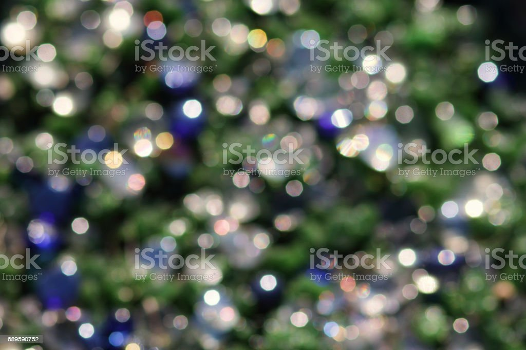 Magic fairy lights through colourful out-of-focus rings stock photo