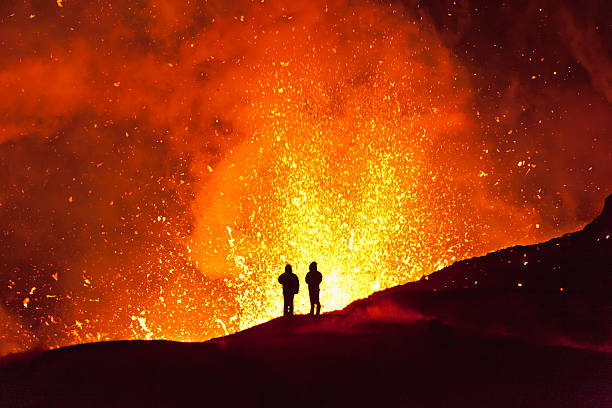 Magic fire. Kamchatka Magic fire. Kamchatka volcano stock pictures, royalty-free photos & images