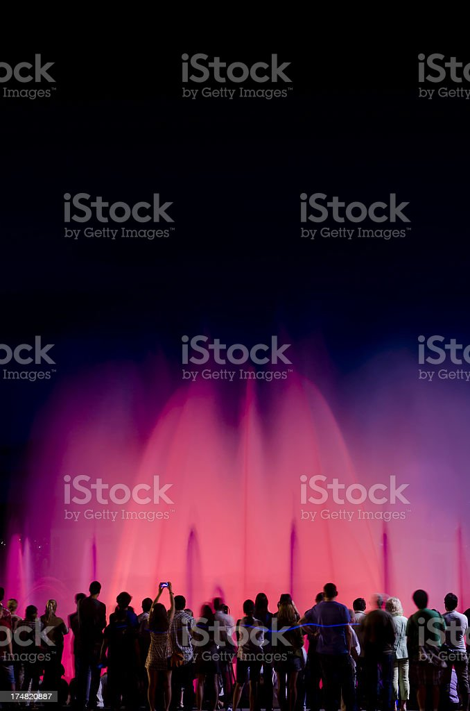 Magic Fountain, Barcelona, Spain stock photo