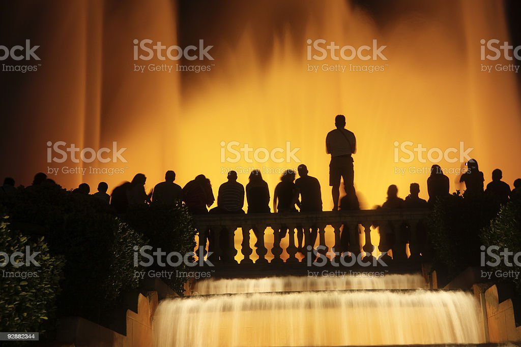 Magic Fountain in Barcelona, Spain stock photo