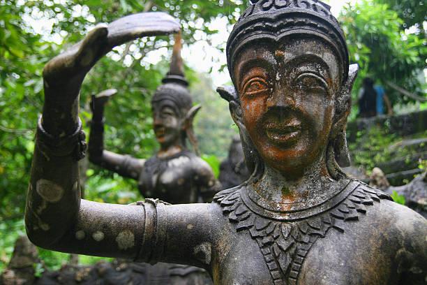 Magic garden, Ko Samui, Thailand stock photo