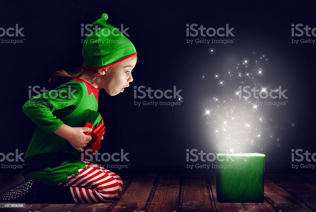 magic gift box stock photo