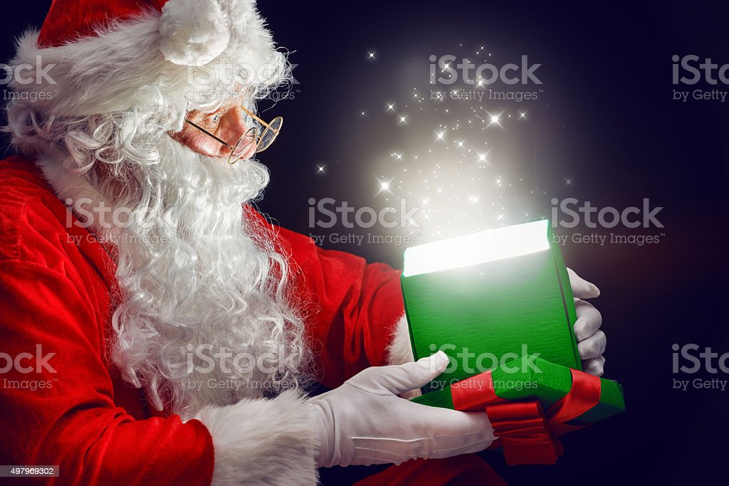 magic gift box stock photo