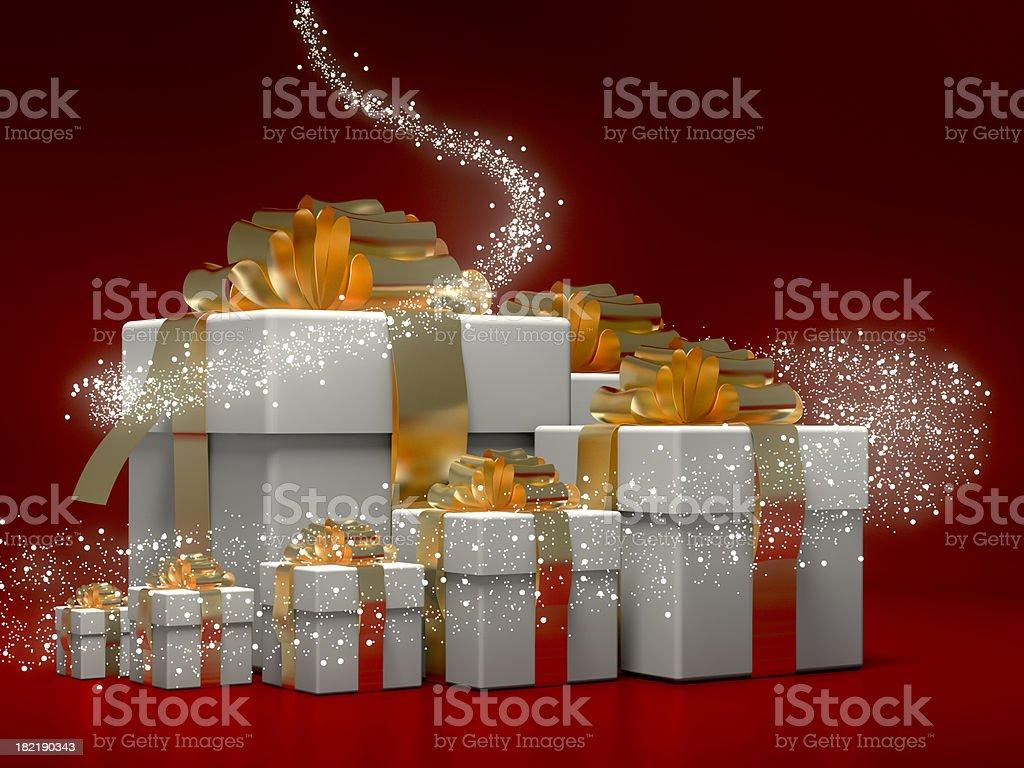 Magic gifts stock photo